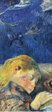 Gauguin enfant endormi detail